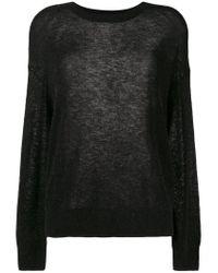 IRO Black Oversized Woolly Jumper