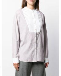 Camisa con pechera plisada Forte Forte de color Multicolor