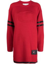 COACH コントラストディテール ニットドレス Red