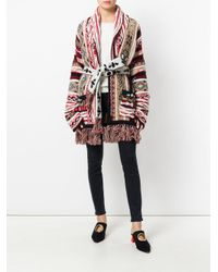 Laneus - Red Belted Cardigan - Lyst