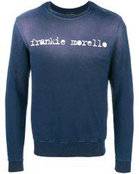 Frankie Morello Blue Front Logo Top for men