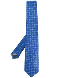 Canali - Blue Embroidered Tie for Men - Lyst