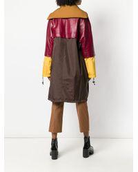 Marni - Brown Colour-block Midi Coat - Lyst