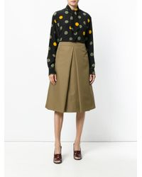 Marni Black Spotted Pussy Bow Blouse