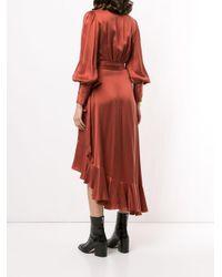 Vestito a portafoglio con ruches di Zimmermann in Red