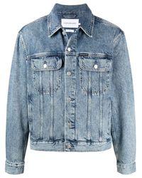 Джинсовая Куртка С Нашивкой-логотипом Calvin Klein для него, цвет: Blue