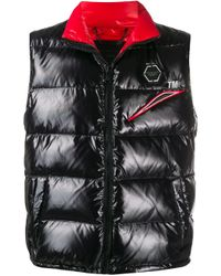 Philipp Plein Black Space Padded Vest for men