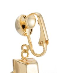 Serpui - Metallic Crystal Charm Earrings - Lyst