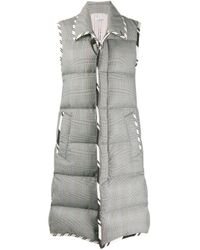Thom Browne Gray Super 120s Wool Padded Sleeveless Coat