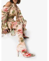 Botas altas con motivo floral Zimmermann de color Pink