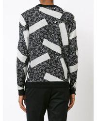 Julien David Black Intarsia Knit Jumper for men