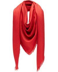 Fendi シグネチャー スカーフ Red