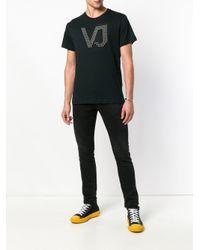 Versace Jeans Black Studded Logo T-shirt for men