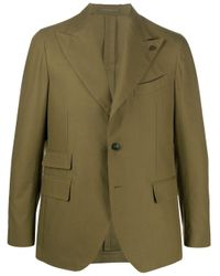 Gabriele Pasini Green Fitted Single Breasted Blazer for men