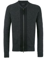 Diesel Black Gold - Gray Ribbed Cardigan for Men - Lyst