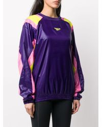 Reebok カラーブロック スウェットシャツ Purple