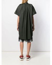 Robe-chemise courte oversize MM6 by Maison Martin Margiela en coloris Green