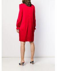 Robe courte à détail de nœud Boutique Moschino en coloris Red