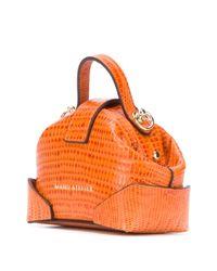 MANU Atelier クロコパターン ショルダーバッグ Orange