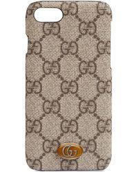 Funda para iPhone 8 Ophidia Gucci de color Brown