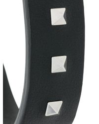 Valentino - Black Garavani Rockstud Cuff Bracelet for Men - Lyst