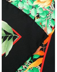 Ferragamo Black Tropical Print Scarf