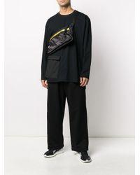 メンズ Y-3 ワイドパンツ Black