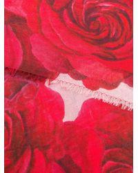 Blumarine ローズプリント スカーフ Red