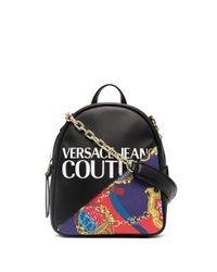 Versace Jeans Black Baroque-print Mini Backpack