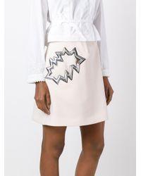 Christopher Kane Multicolor Smash Pocket Skirt