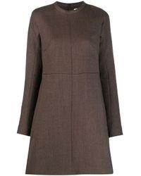 Robe droite à manches longues Jil Sander en coloris Brown