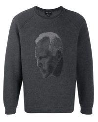 Maglione a girocollo di Giorgio Armani in Black da Uomo