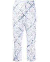 Pantalon brodé de sequins Thom Browne en coloris White