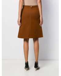 A.P.C. Coco Aライン スカート Brown