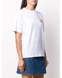 Maison Kitsuné Flower Fox Tシャツ White
