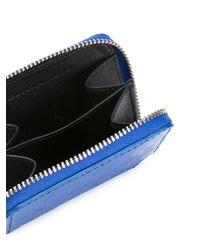 メンズ AMI ジップ付き 財布 Blue