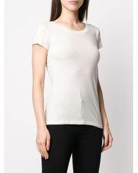 L'Agence スクープネック Tシャツ White