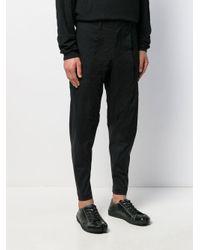 Pantalones slim de vestir Issey Miyake de hombre de color Black