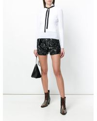 Dorothee Schumacher - White Tie Neck Knitted Top - Lyst