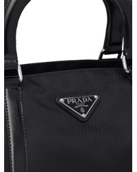 Bolso shopper mediano Prada de color Black