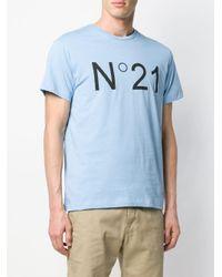 メンズ N°21 ロゴ Tシャツ Blue