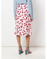 Essentiel Antwerp - White Cherry Print Midi-skirt - Lyst