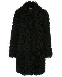 Manteau mi-long texturé Sies Marjan en coloris Black