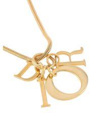 Dior 1990s ロゴチャーム ネックレス Metallic