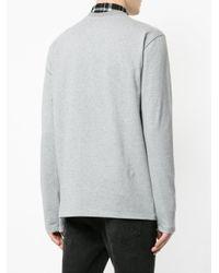 Golden Goose Deluxe Brand Gray Crew Neck Sweatshirt for men