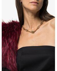 Versace メデューサ クリスタル ネックレス Metallic