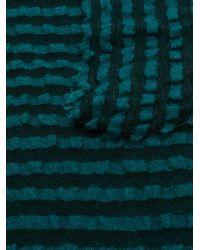 Faliero Sarti Black Striped Scarf
