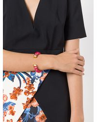 Aurelie Bidermann - Metallic Pivoine Resin Inlay Positano Bracelet - Lyst