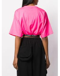 Natasha Zinko ロゴ クロップドtシャツ Pink
