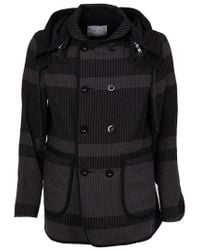 Sacai - Black Double Breasted Jacket for Men - Lyst